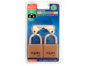 LN4T Lion Brass Padlocks 5-Pin 40mm Twin Pack (2 x LN4KA)