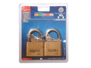 LN5T Lion Brass Padlocks 5-Pin 50mm Twin Pack