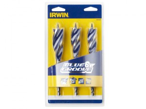 6X Blue Groove Wood Drill Bit Set 3 Piece 20-25mm