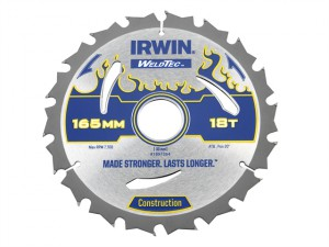 Weldtec Circular Saw Blade 165 x 30mm x 18T ATB