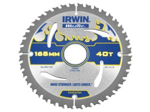 Weldtec Circular Saw Blade 165 x 30mm x 40T ATB