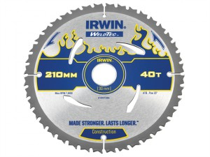 Weldtec Circular Saw Blade 210 x 30mm x 40T ATB