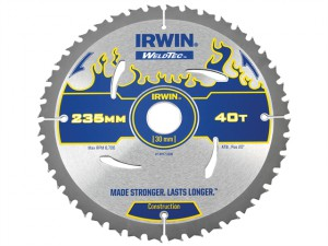Weldtec Circular Saw Blade 235 x 30mm x 40T ATB