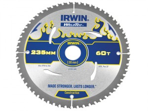 Weldtec Circular Saw Blade 235 x 30mm x 60T ATB