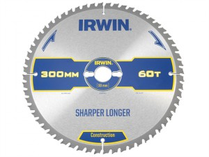 Construction Table & Mitre Circular Saw Blade 300 x 30mm x 60T ATB
