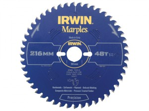 Marples Mitre Circular Saw Blade 216 x 30mm x 48T ATB/Neg