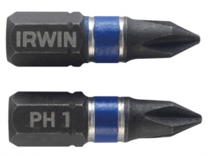 Impact Screwdriver Bits Phillips PH1 25mm Pack of 10