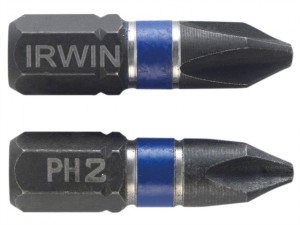 Impact Screwdriver Bits Phillips PH2 25mm Pack of 2