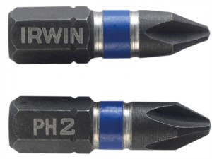 Impact Screwdriver Bits Phillips PH2 25mm Pack of 10