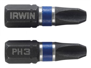 Impact Screwdriver Bits Phillips PH3 25mm Pack of 2
