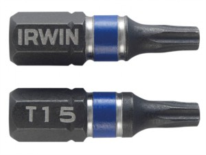 Impact Screwdriver Bits TORX TX15 25mm Pack of 2