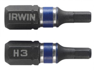 Impact Screwdriver Bits Hex 3 25mm Pack of 2