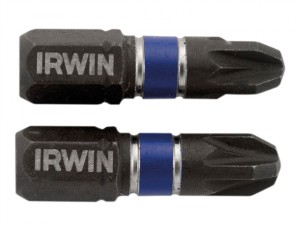 Impact Screwdriver Bits Pozi PZ3 25mm Pack of 2