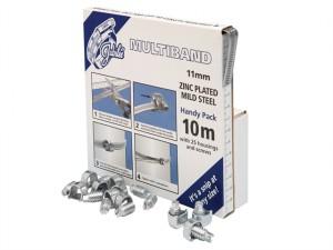 Multiband Mild Steel Handy Pack 11mm (10m + 25 Housings/Screws)