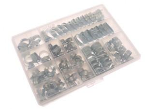 Workshop Pack 143 Assorted Hose Clips (Mild Steel)