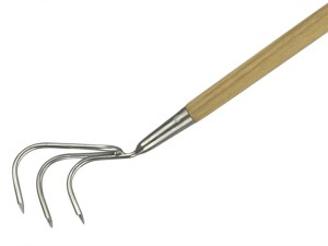 Long Handled 3-Prong Cultivator Stainless Steel