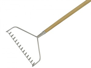 Long Handled Soil Rake Stainless Steel