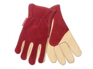 Ladies Gloves Raspberry / Tan
