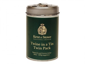 Twine In a Tin Natural & Green Twin Pack 50m (100g)