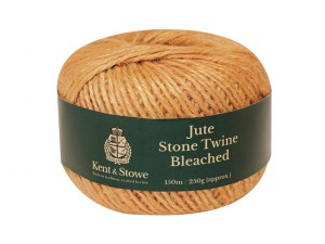 Jute Twine Bleached Stone 150m (250g)