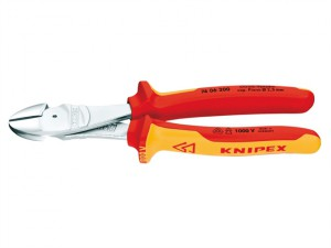 High Leverage Diagonal Cutting Pliers VDE Certified Grip 200mm
