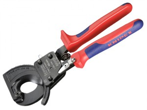 Cable Shears Ratchet Action Multi-Component Grip 250mm (10in)