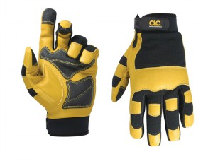 Hybrid-275 Top Grain Leather Neoprene Cuff Gloves Large (Size 10)