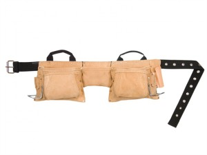 AP-527X Heavy-Duty Leather Work Apron 12 Pocket