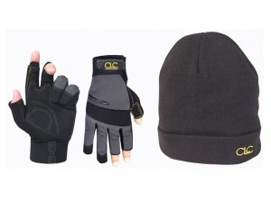 PK4015 Fingerless Gloves + Beanie Hat