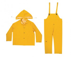 R101 3-Piece Yellow 0.35mm PVC Rain Suit - XXL