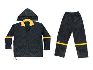 R103 3-Piece Black Nylon Suit - M