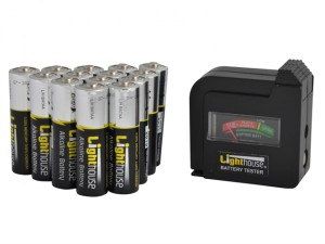 AA Batteries Bulk Pack (14) + Tester