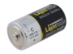Alkaline Batteries C LR14 6200mAh Pack of 2
