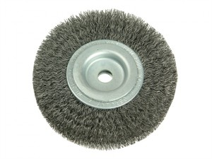 Wheel Brush D200mm x W24-27 x 50 Bore Set 3 Steel Wire 0.30