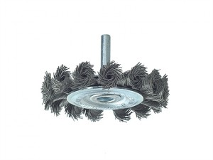 Knotted Wheel Brush with Shank 75 x 8mm 0.50 Steel Wire