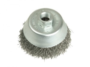 Cup Brush 150mm M14 x 0.35 Steel Wire