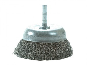 DIY Cup Brush with Shank 75mm x 0.35 Steel Wire