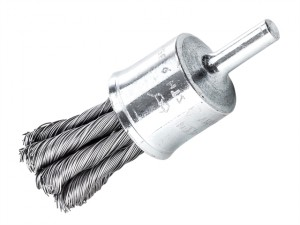 Knot End Brush with Shank 19mm x 0.35 Steel Wire