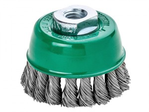 Knot Cup Brush 100mm M14 x 25 x 0.50 Stainless Steel Wire