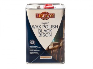 Liquid Wax Polish Black Bison Clear 5 litre
