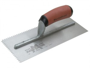 Notched Trowel 701SD V 3/16in DuraSoft® Handle 11 x 4.1/2in