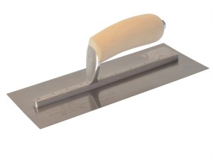 MXS1SS Plasterers Finishing Trowel Stainless Steel Wooden Handle 11 x 4.1/2in