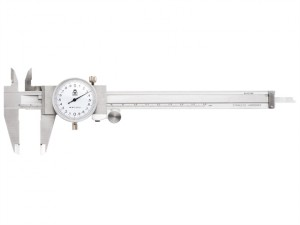 Dial Caliper White Face 0-6in