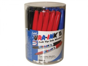 Dura-Ink 15 Fine Tip Marker - Mixed Colours (Tub of 48)