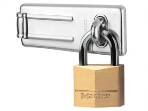 Hasp 89mm + Solid Brass Padlock 40mm
