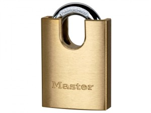Solid Brass 40mm Padlock 5-Pin Shrouded Shackle