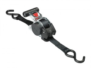 Retractable Ratchet Tie-Down S Hook 3m 2 Piece