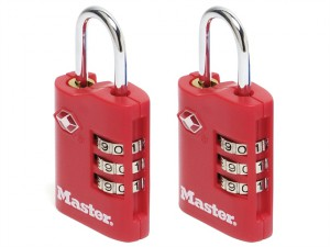 TSA Combination Zinc Padlocks 3 Digit 30mm x 2