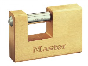 Rectangular 76mm Solid Brass Body Shutter Padlock