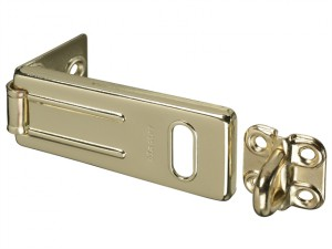 Wrought Steel Hasp 89mm - Brass Finish